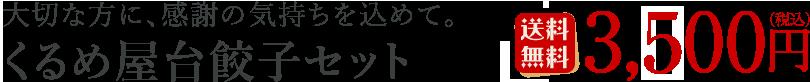くるめ屋台餃子セット:3,000円(税込/送料無料)